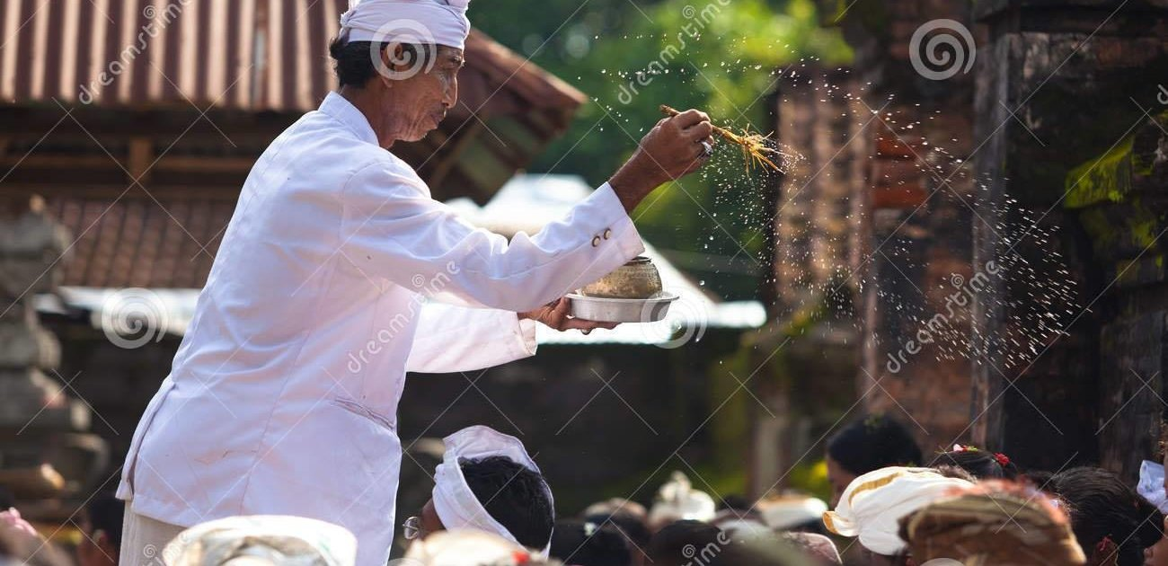 Bali Retreat Priest blessing